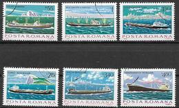 ROMANIA 1979   NAVI DELLA MARINA MERCANTILE YVERT. 3191-3196 USATA VF - 1948-.... Repubbliche