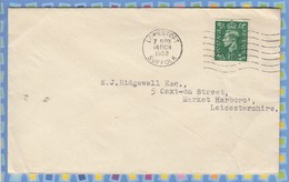Great Britain - 1952 - King George VI On Cover To Leicestershire Lowestoft Suffolk - 1902-1951 (Reyes)