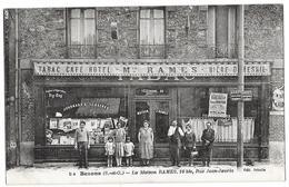 BEZONS (95) Devanture Commerce Tabac Café Hotel Maison Rames Animation - Bezons