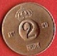 SWEDEN  #  2 ØRE FROM 1961 - Suède
