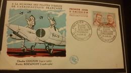 1°  Jour.d'émission..FDC ..1959 ..  à La Mémoire Des Pilotes  GOUJON / ROZANOFF - Joint Issues
