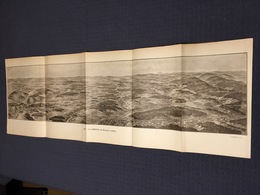 DEPLIANT PANORAMIQUE PLANCE PANORAMA GUERRE 1914 PAR G. MALFROY LA LORRAINE DE BIONCOURT A CELLES LUNEVILLE MONDON - Cartes Topographiques