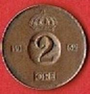 SWEDEN  #  2 ØRE FROM 1962 - Suède