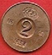 SWEDEN  #  2 ØRE FROM 1964 - Suède