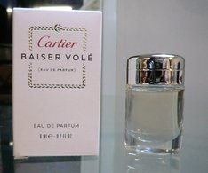BAISER VOLE - EDP 6 ML De CARTIER - Miniatures Modernes (à Partir De 1961)