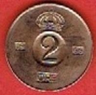 SWEDEN  #  2 ØRE FROM 1966 - Suède