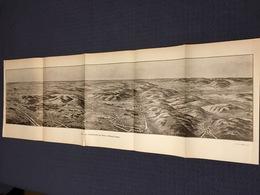 DEPLIANT PANORAMIQUE PLANCE PANORAMA GUERRE 1914 PAR G. MALFROY LA CHAMPAGNE DE REIMS A VILLE SUR TOURBE SUIPPES - Cartes Topographiques