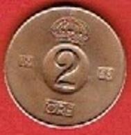 SWEDEN  #  2 ØRE FROM 1968 - Suède