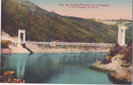 CPA -  1419. LES GRANDS TRAVAUX DE LA TRUYERE. Le Pont Suspendu De Laussac - France
