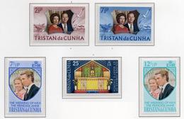 1972 - TRISTAN DA CUNHA - Yv.  Nr. 178/180+189/190 - NH - (UP131.2) - Tristan Da Cunha