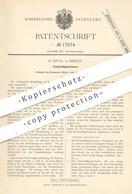 Original Patent - G. Rival , Berlin , 1881 , Fensterflügelsicherer | Fenster , Fensterbauer , Fensterflügel , Tür !!! - Historische Dokumente