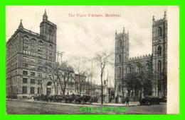 MONTRÉAL, QUÉBEC - THE PLACE D'ARMES - ANIMATED - TRAVEL IN 1908 - EMIL DAVID - - Montreal