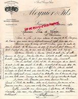 87 - LIMOGES- RARE LETTRE MANUSCRITE SIGNEE MEYNIER & FILS- CHEMISIER -5 BOULEVARD GEORGES PERRIN- 1920 - Textilos & Vestidos