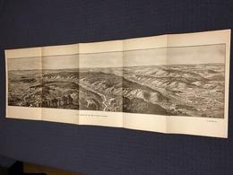 DEPLIANT PANORAMIQUE PLANCE PANORAMA GUERRE 1914 PAR G. MALFROY L'ARGONNE DE VILLE SUR TOURBE A AVOCOURT ST MENEHOULD - Cartes Topographiques