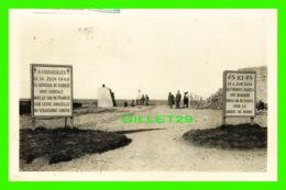 COURSEULLES (14) - LE 14 JUIN 1944, LE GÉNÉRAL DE GAULE PRIT CONTACT - ANIMÉE -  CIRCULÉE EN 1950- - Courseulles-sur-Mer