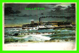 """BATEAUX, SHIP - """" SOVEREIGN """" LACHINE RAPIDS NEAR MONTREAL - TRAVEL IN 1905 - - Paquebots"""