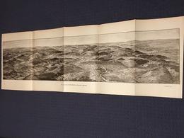 DEPLIANT PANORAMIQUE PLANCE PANORAMA GUERRE 1914 PAR G. MALFROY LES HAUTS DE MEUSE D'AVOCOURT A BELRUPT VERDUN BOURRUS - Cartes Topographiques