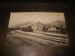 CAUDIES LA GARE LE TRAIN DE PERPIGNAN 1919 - Frankreich
