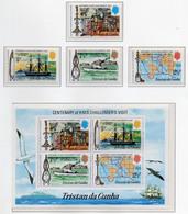 1973 - TRISTAN DA CUNHA - Yv.  Nr. 181/184 + BF 1 - NH - (UP131.2) - Tristan Da Cunha