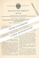 Original Patent - Fr. Rassmus , Magdeburg , 1881 , Vorschnittmesser Für Rübenschnitzelmaschinen | Rüben | Messer !!! - Historische Dokumente