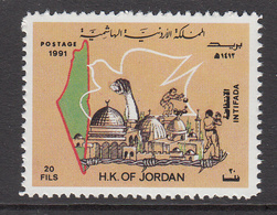 1991 Jordan Palestine Uprising Intefada Complete Set Of 1 MNH - Iraq