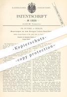 Original Patent - Fr. Butzke , Berlin , 1880 , Bengen'schen Ventilhahn | Wasserhahn | WC , Spülung , Toilette | Ventil - Historische Dokumente