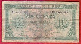 Belgium 10 Francs - 1943. - [ 2] 1831-... : Koninkrijk België