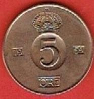 SWEDEN  #  5 ØRE FROM 1959 - Suède