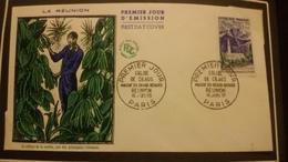 1°  Jour.d'émission..FDC ..1960 ..  LA  REUNION  La Culture De La  Vanille - Joint Issues