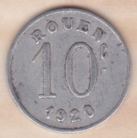 76 . Seine-Maritime. Rouen. Ligue Des Commerçants . 10 Centimes 1920 - Monétaires / De Nécessité