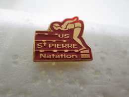 PIN'S    U S SAINT PIERRE NATATION - Swimming