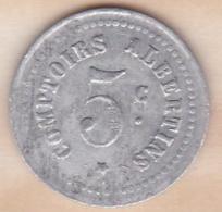 80. Somme. Albert. Comptoirs Albertins . Produits De 1er Choix . 5 Centimes - Monétaires / De Nécessité
