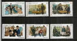 La Famille De José Marti, Héros National De Cuba. Série De 6 Timbres Neufs ** Année 2018 - Cuba