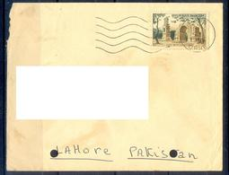 X108- Postal Used Cover. Posted From France To Pakistan. Building. Tree. - Other