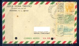 X113- Postal Used Cover. Posted From Mexico To Pakistan. - Mexico