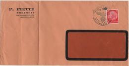 """Germany 1939, Marschendorf.  Sudetenland - Sudeten -  Sudetengau - Sudety, Long """"window"""" Cover, Provisional Cancel - Deutschland"""