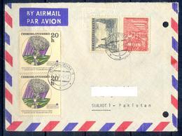 X114- Postal Used Cover. Posted From Czechoslovakia To Pakistan. - Czechoslovakia