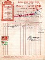 BELGIQUE CUREGHEM BRUXELLES- RARE FACTURE E. ACREMANT P. VANDENBOS- MANUFACTURE GLACES ARGENTURE-11 RUE PLANTIN-1932 - Old Professions