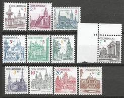 ** Czech Republic Czech And Moravian Towns Definitive Stamps - Tschechische Republik