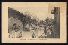 AFRIQUE - DAHOMEY - PORTO NOVO - Quartier Indigene - Dahomey