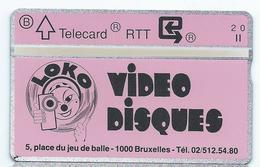 P 222 Video Disques LOKO Mint Neuve Tirage 1000 Ex Privée 149G Vidéo - Belgique