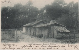 CPA AK Forêt D Arcachon Cabane De Résiniers A La Teste Buch Gujan Mestras Biganos Lanton Pilat Andernos Bains 33 Gironde - Arcachon