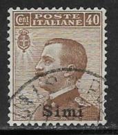 Italy Aegean Islands Simi Scott # 7 Used Italy Stamp Overprinted, 1912 - Aegean (Simi)