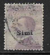 Italy Aegean Islands Simi Scott # 8 Used Italy Stamp Overprinted, 1912 - Aegean (Simi)