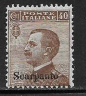 Italy Aegean Islands Scarpanto Scott # 7 MNH Italy Stamp Overprinted, 1912 - Aegean (Scarpanto)