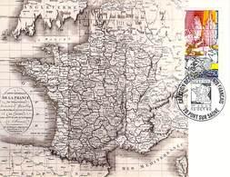 FRANCE CARTE MAXIMUM   NUM.YVERT 2670 LA REVOLUTION  CREATION  DES DEPARTEMENTS - Cartoline Maximum