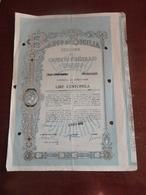 OBBLIGAZIONE BANCO DI SICILIA LIRE 100.000-1964 - Banca & Assicurazione