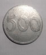TOKEN GETTONE COOP, SUPERMERCATO IPERMERCATO 500 LIRE ALLUMINIO - Monétaires/De Nécessité