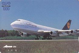Carte Prépayée Japon - Aviation AVION - LUFTHANSA / GERMANY - Airlines Japan Airplane Quo Card - Flugzeug Karte 2195 - Flugzeuge