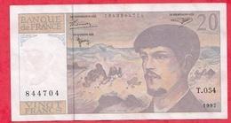 "20 Francs ""Debussy"" 1997 --Série  T.054 ----XF/SUP+ - 1962-1997 ''Francs''"